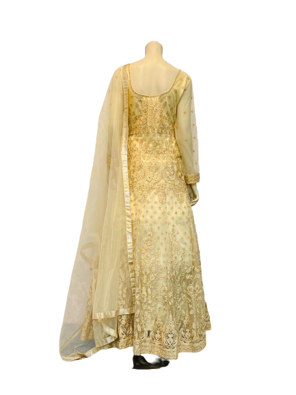 Eye Golden Anarkali Gown