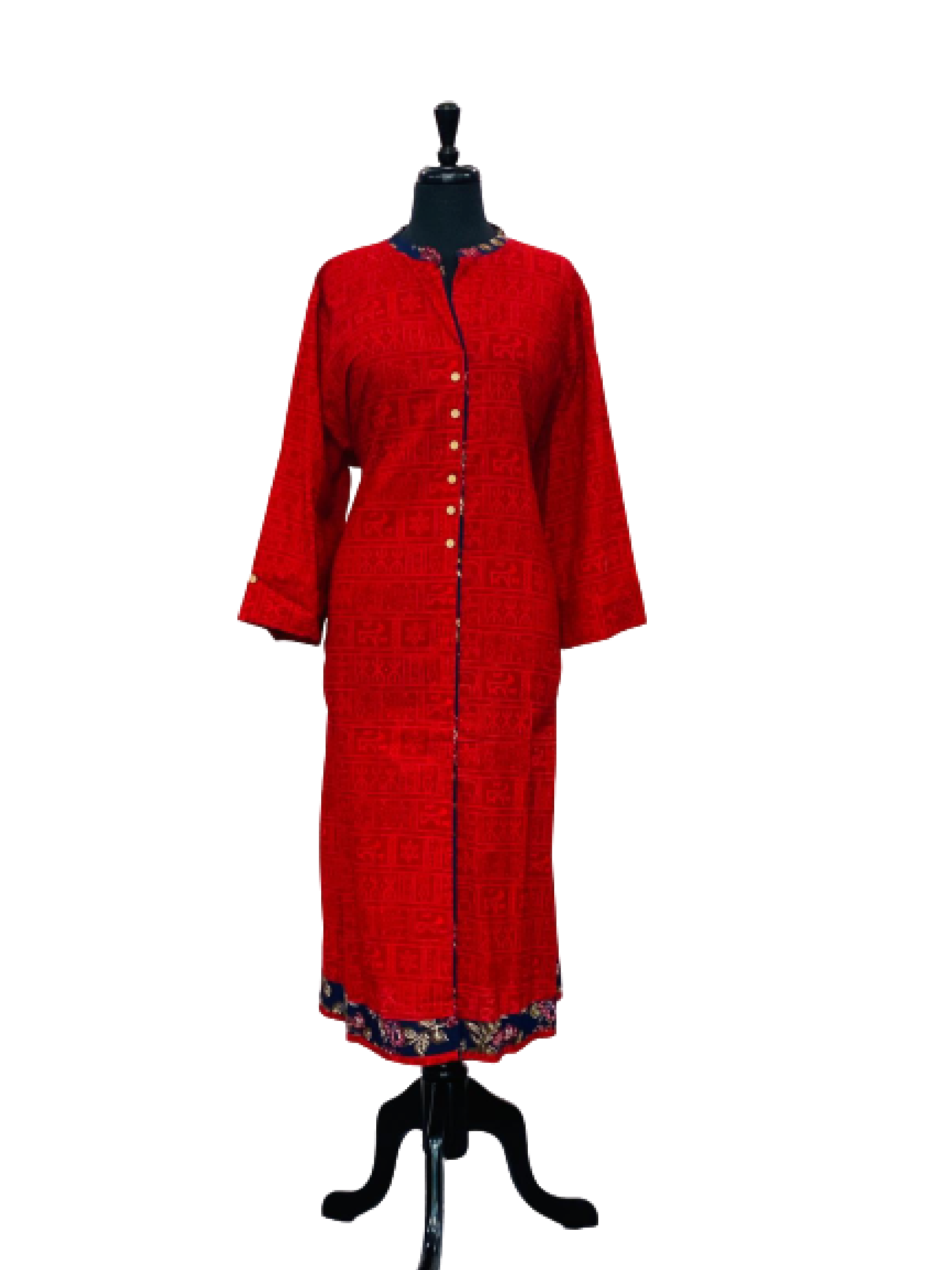 Red Color Pattern Kurti