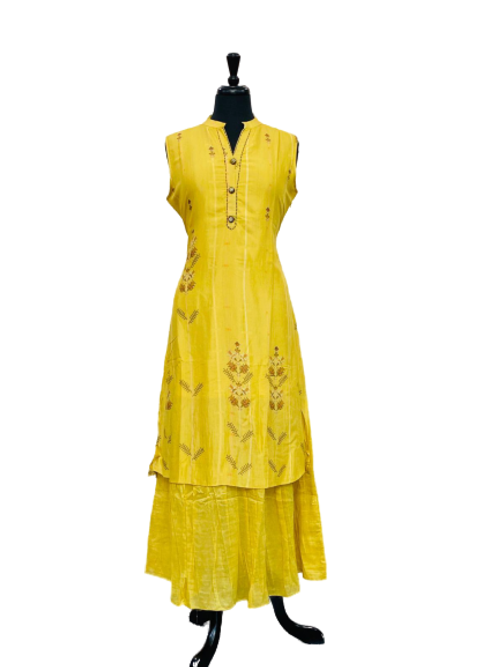 Yellow Pattern Design Kurti