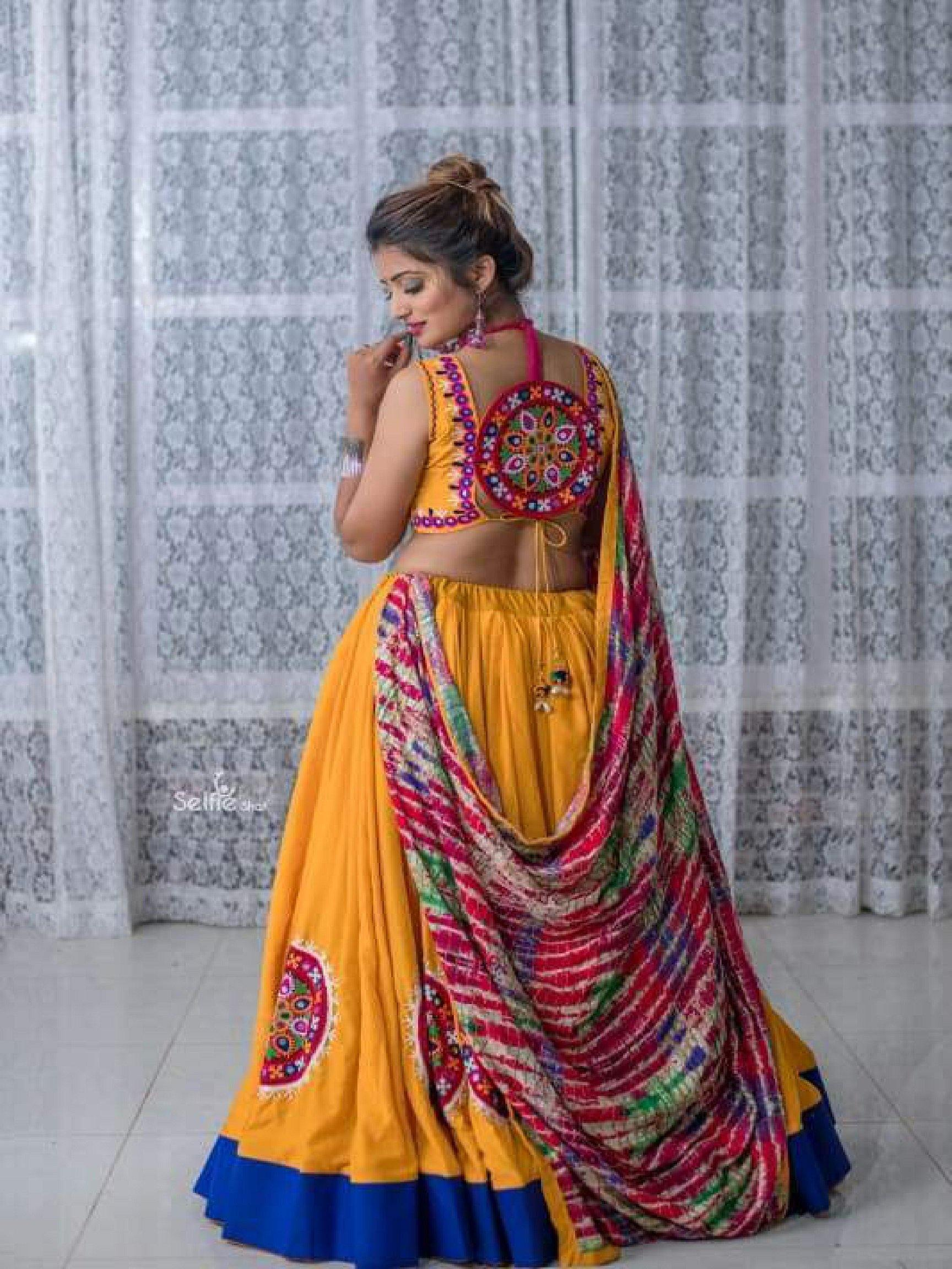 Deep Yellow Chaniya Choli