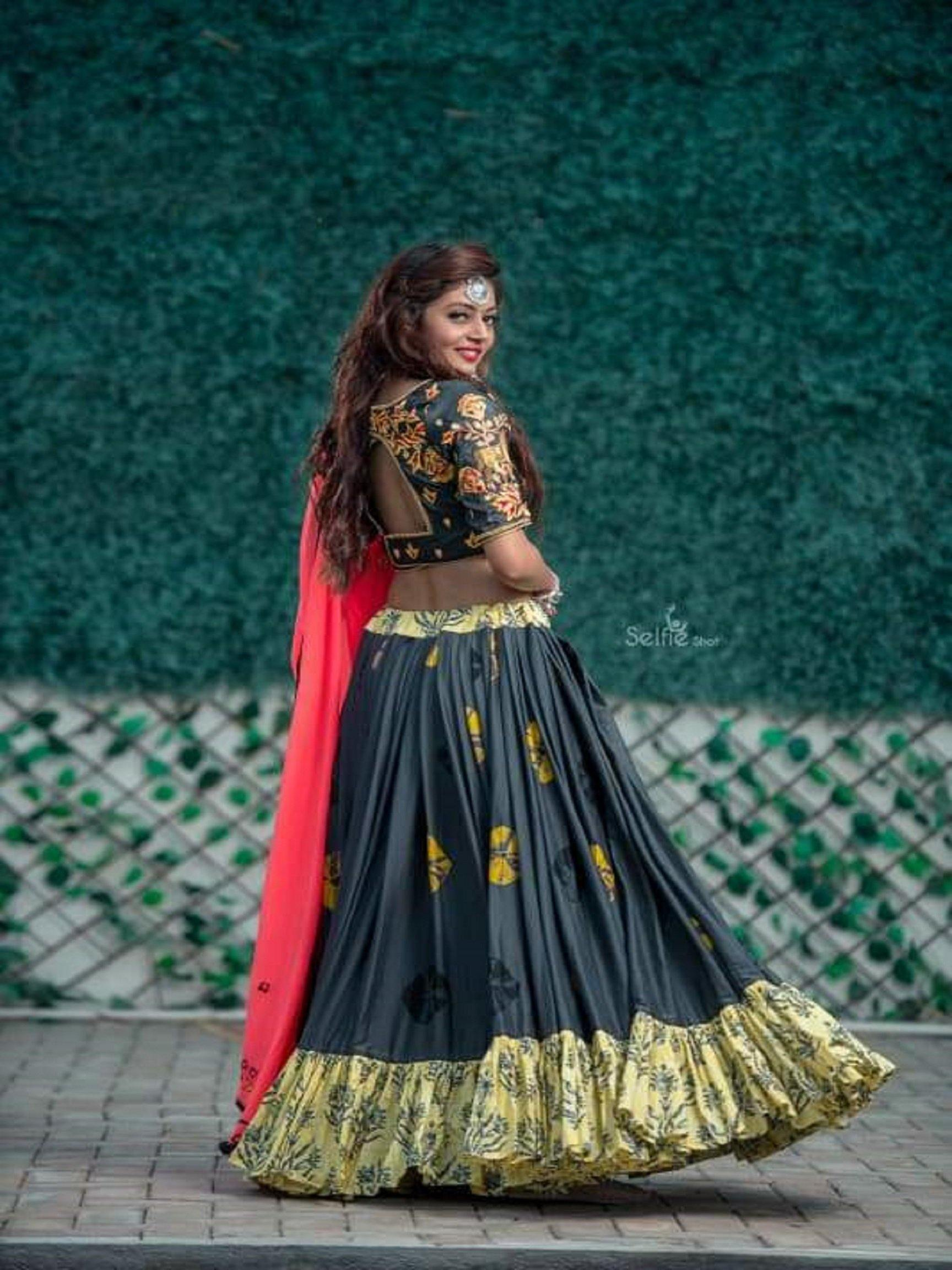 Grey and Yellow Chaniya Choli with Peach Dupatta