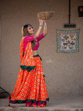 Load image into Gallery viewer, Orange and Pink Chaniya Choli - Chaniya Choli