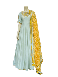 Light blue Anarkali Gown - Jyotika Patel Designs