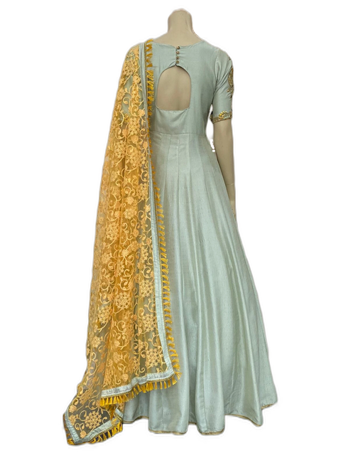 Light blue Anarkali Gown