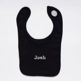 Black Cotton Bib
