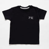 Toddler Black Cotton T-Shirt
