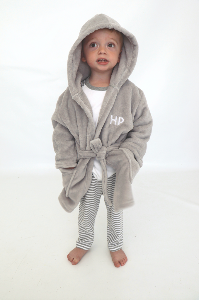 Soft Light Grey Dressing Gown