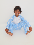 Light Blue Cloud Print Pyjama Set
