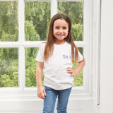 Toddler White Cotton T-Shirt