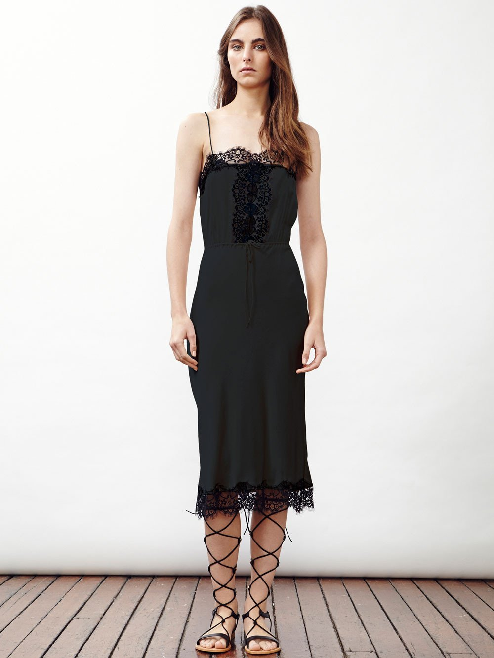 THE SEEKER Silk Slip Dress with Detail by Little Joe Woman