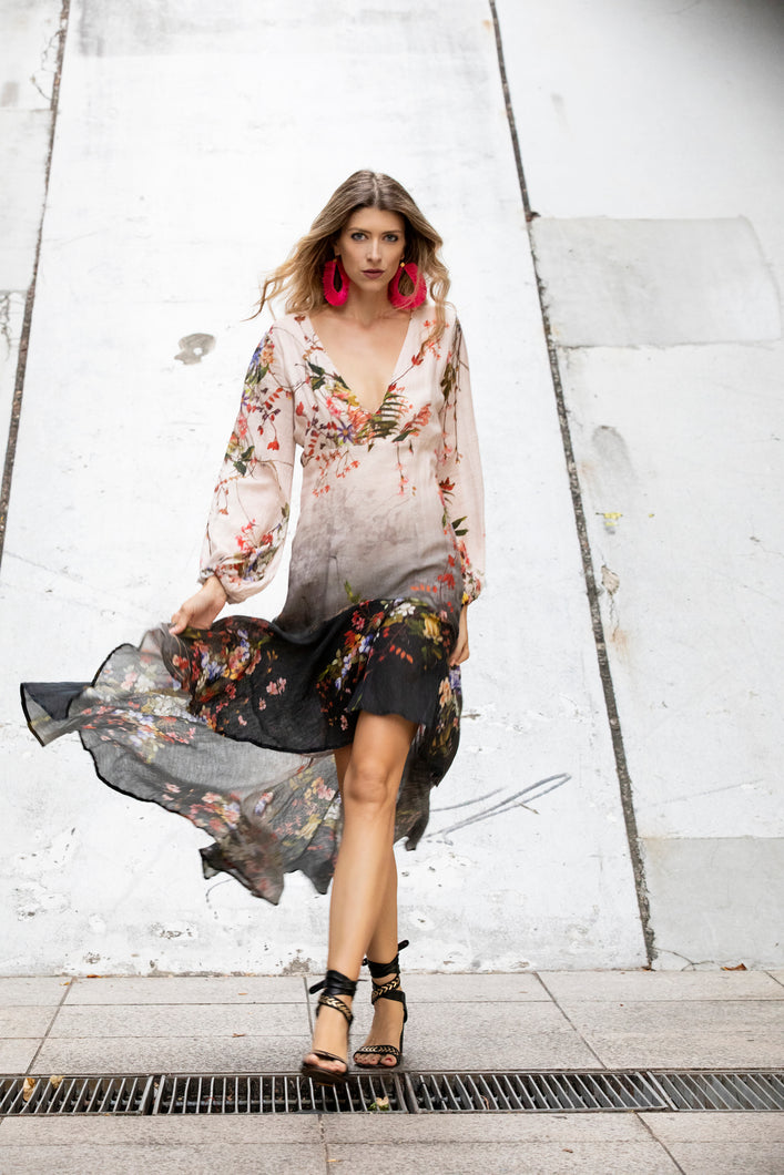 DESIGNER EXCLUSIVE: Jessica Flowing Floral Dress by Erika Peña