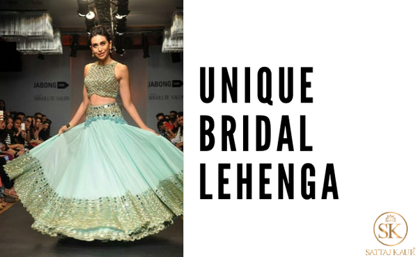 unique bridal lehenga top ideas