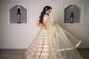 Classic Ivory and Golden Lehenga