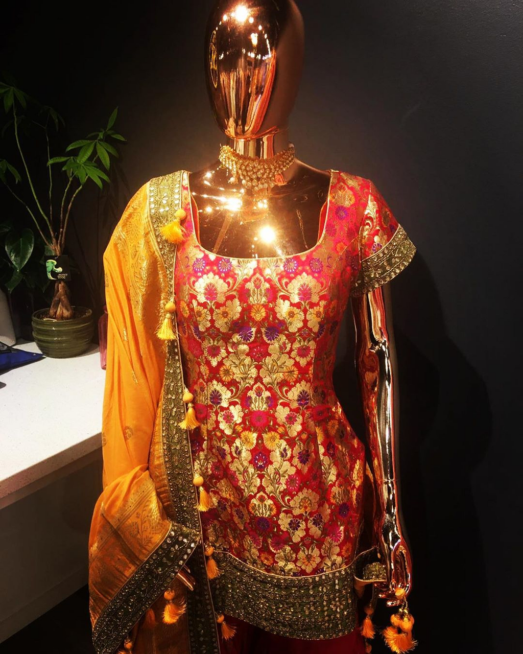 Banarasi Kurti and Sharara