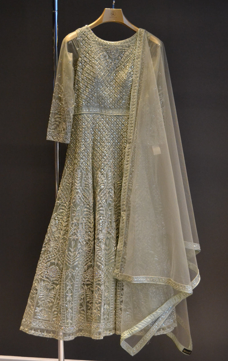 Mint Green Anarkali Dress