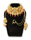 Bridal Red Kundan Choker Set