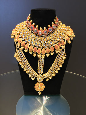 Bridal Kundan Choker Necklace Set