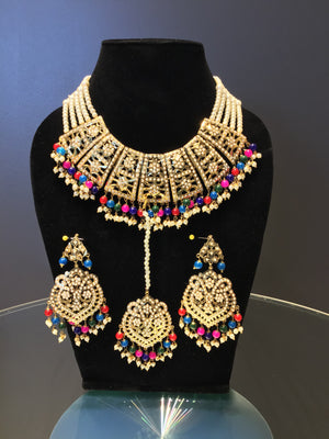 Multi-color Meenakari Necklace Set