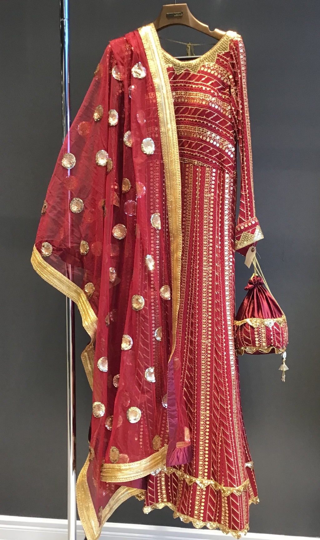 Maroon Anarkali Suit