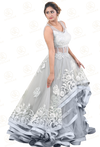 Ash Gray Party Gown