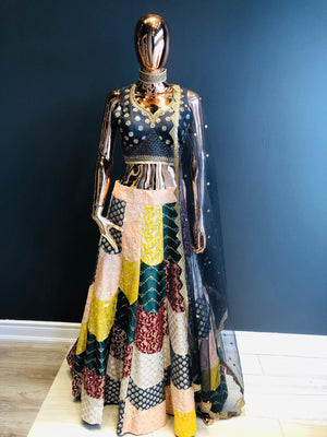 Multi-color Party wear Lehenga Choli