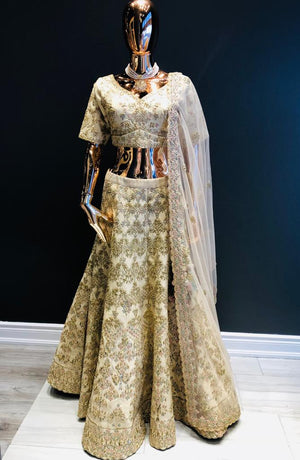 Sweetheart Ivory Silk Lehenga Choli