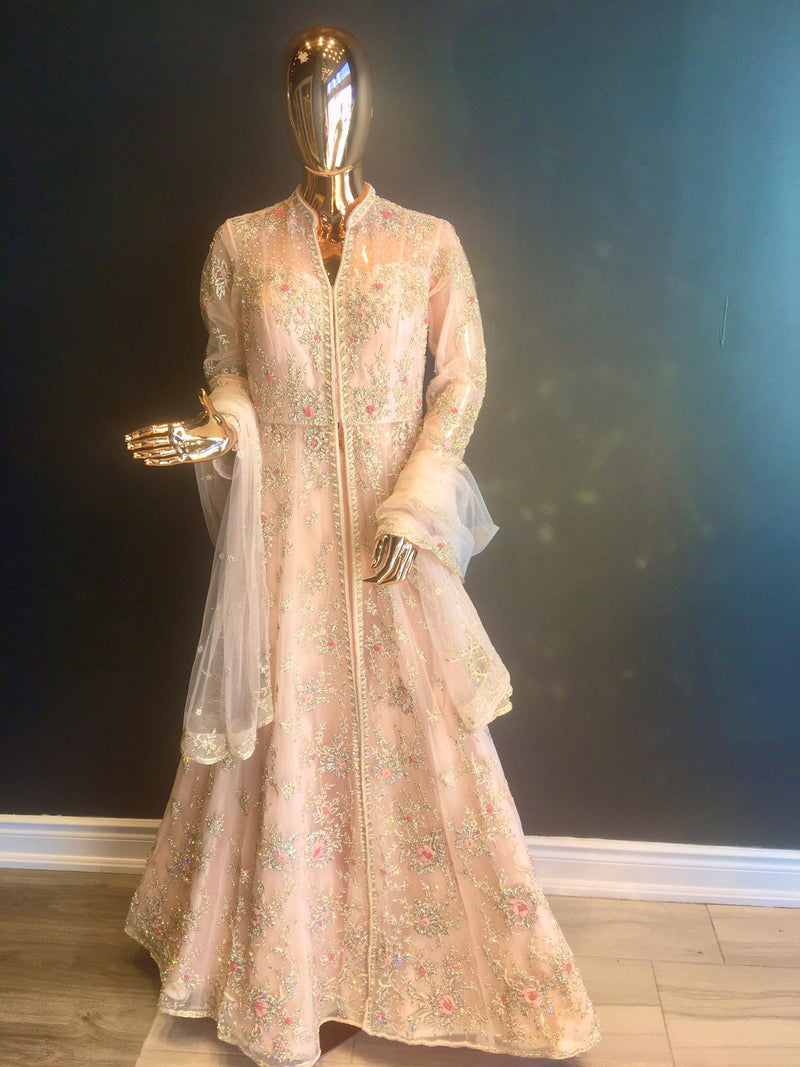 Peach Anarkali Dress