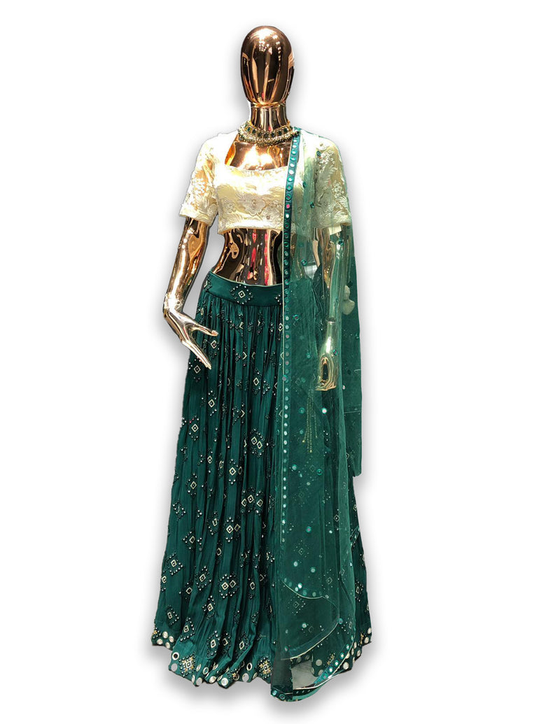 Green Lehenga Choli for Mehendi
