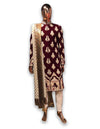 Maroon Velvet Sherwani with Royal Palla