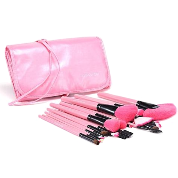 24 Piece Pink Glory Brush Set - Best Seller - Black Friday Special - Deal Ends Soon