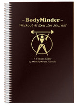 Load image into Gallery viewer, BODYMINDER Workout and Exercise Journal (A Fitness Diary)
