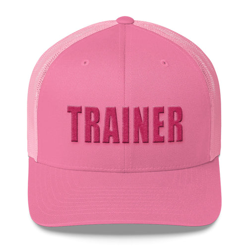 Personal Trainer Pink Trucker Hat