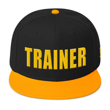 Load image into Gallery viewer, Personal Trainer Black and Gold Snapback Otto Hat