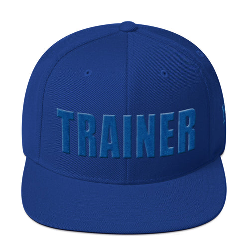 Personal Trainer Royal Blue Snapback Hat