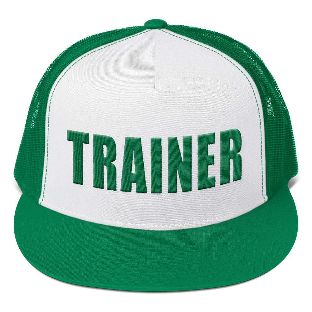 Personal Trainer Green Truckers Hat