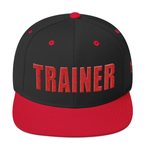 Personal Trainer Snapback Hat Black with Red Trim