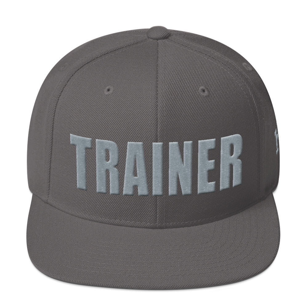 Personal Trainer Dark Gray Snapback Hat