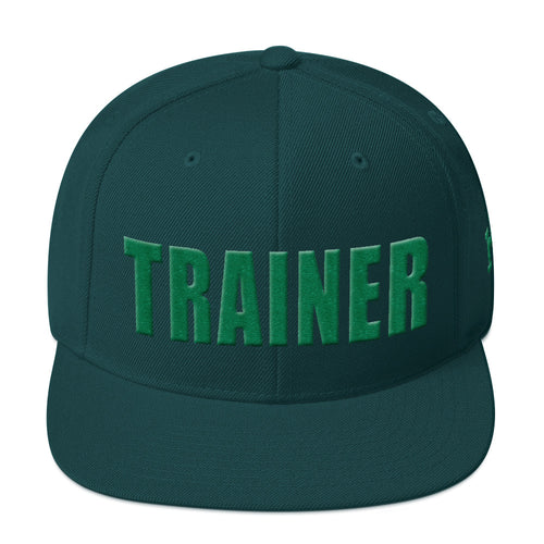 Personal Trainer Green Snapback Hat
