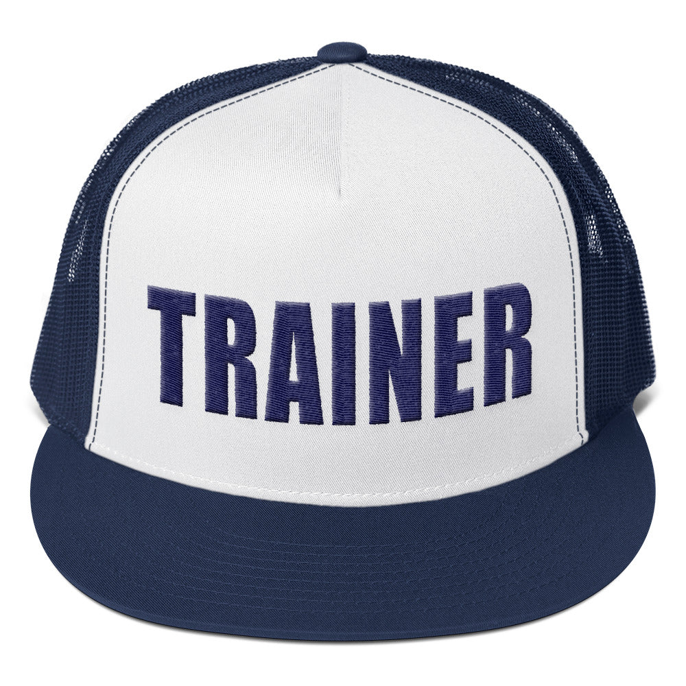 Personal Trainer Navy Blue Truckers Hat