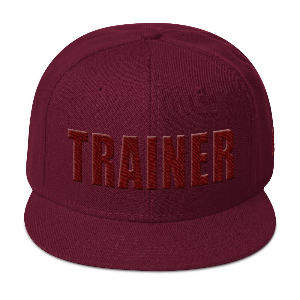 Personal Trainer Maroon Snapback Otto Hat