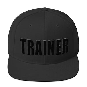 Personal Trainer Black Snapback Hat