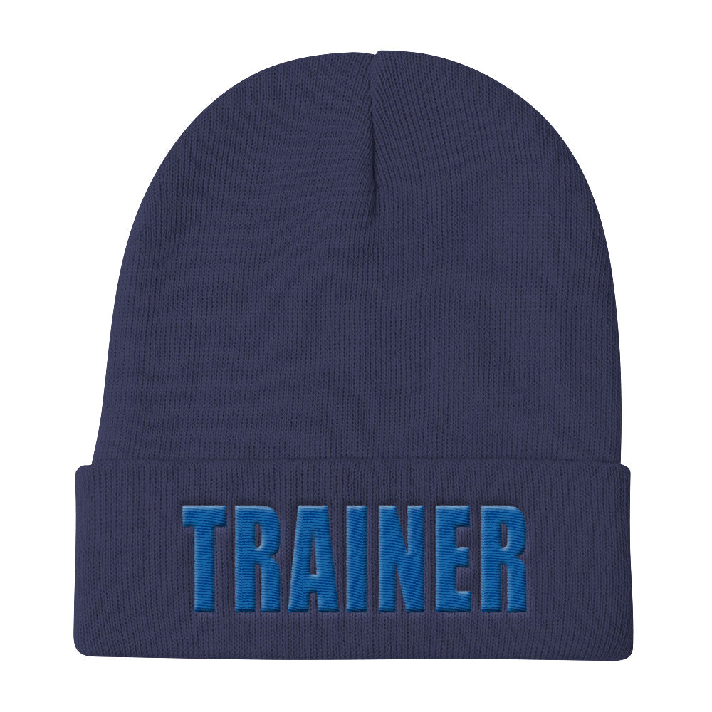 Personal Trainer Navy Blue Knit Beanie