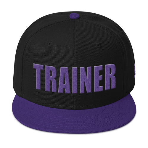 Personal Trainer Black and Purple Snapback Otto Hat
