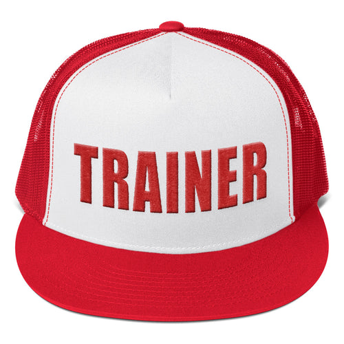 Personal Trainer Red Truckers Hat