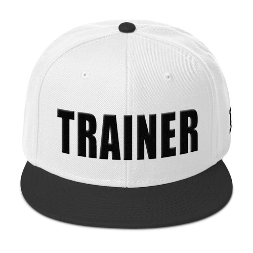 Personal Trainer White and Black Snapback Otto Hat