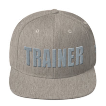 Load image into Gallery viewer, Personal Trainer Gray Snapback Hat
