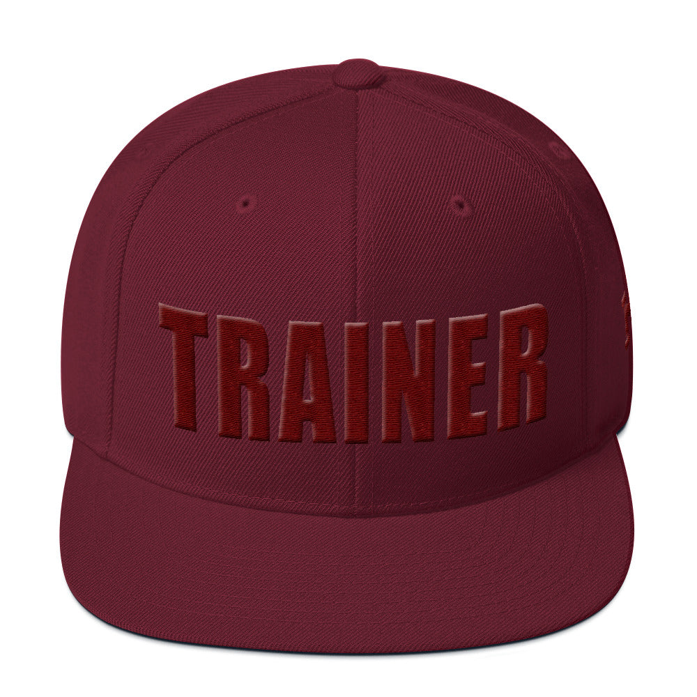 Personal Trainer Maroon Snapback Hat