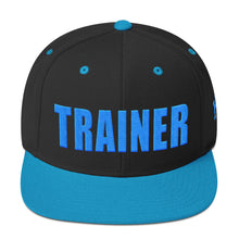 Load image into Gallery viewer, Personal Trainer Snapback Hat Black and Teal