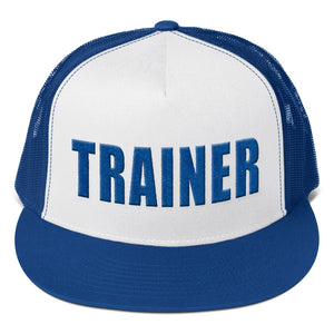 Personal Trainer Royal Blue Truckers Hat