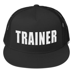 Personal Trainer Black and White Truckers Hat